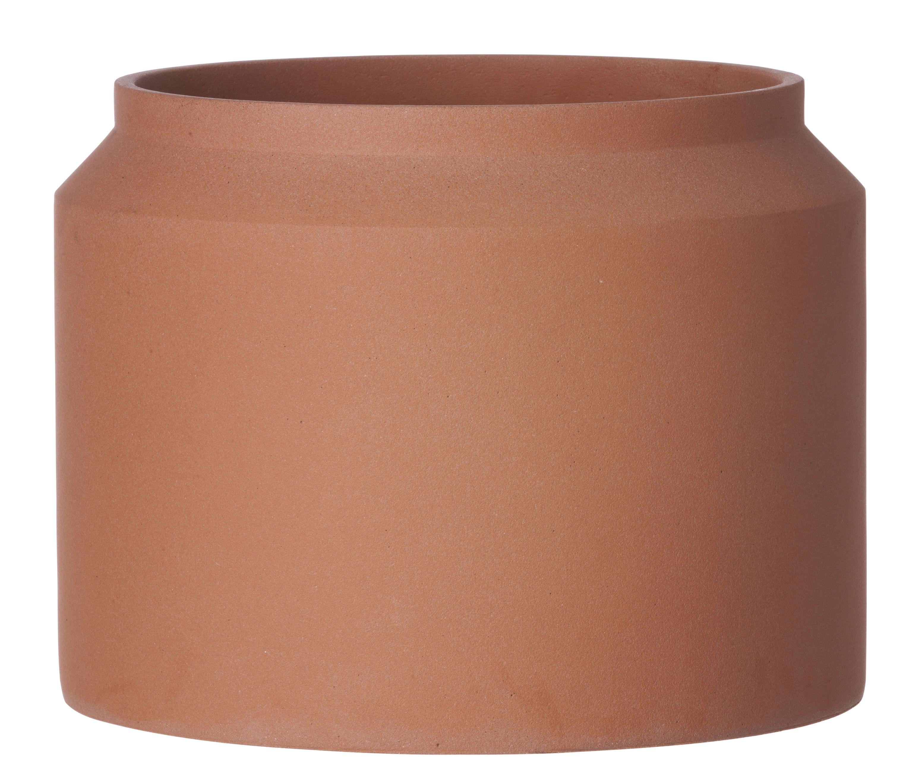 Outdoor - Pots & Plants - Contenant Large Flowerpot - Ø 32 x H 25 cm by Ferm Living - Terracotta - Concrete