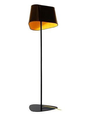 Lampadaire Grand Nuage H 122 cm - Designheure jaune,noir laqué en matière plastique