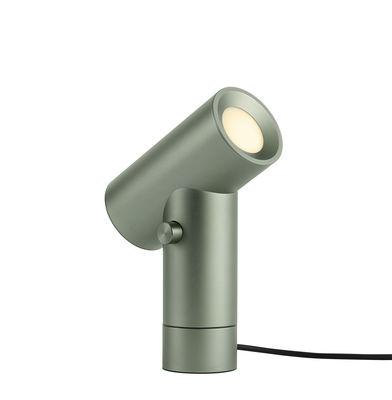 Lampe de table Beam / Double source lumineuse - Base rotative - Muuto vert en métal