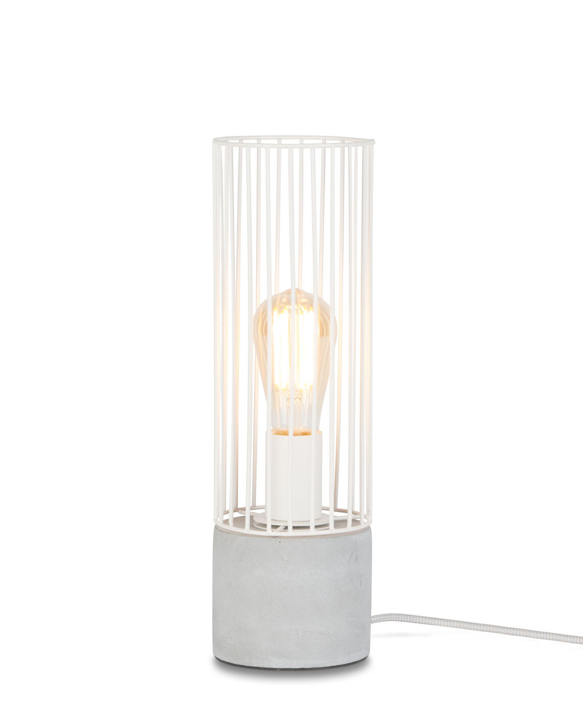 Luminaire - Lampes de table - Lampe de table Memphis / Ciment & fer - It's about Romi - Blanc / Ciment gris - Ciment, Fer