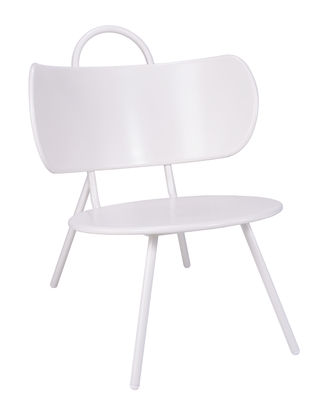 Furniture - Armchairs - Swim Low armchair - Indoor & outdoor - Metal by Bibelo - White - Epoxy lacquered metal