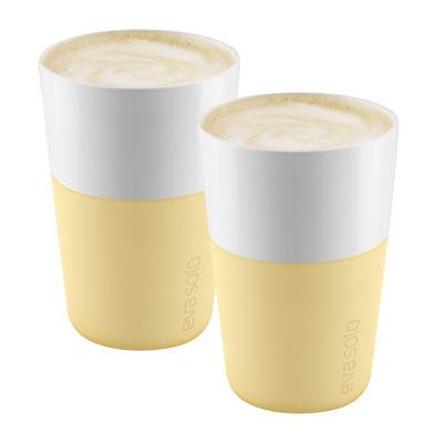 Tableware - Coffee Mugs & Tea Cups - Cafe Latte Mug - / Set of 2 - 360 ml by Eva Solo - Frosted lemon - China, Silicone