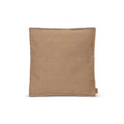 Decoration - Cushions & Poufs - Desert Square Outdoor cushion - / Recycled plastic bottles by Ferm Living - Sand - Recycled fabric