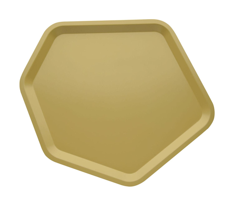 Tavola - Vassoi  - Piano/vassoio Territoire - / 46 x 43,3 cm di Alessi - Giallo sabbia - Acciaio inossidabile con colorazione resina epossidica