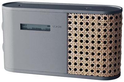 Accessoires - Réveils et radios - Radio Hybrid / Rotin - Lexon - Gris / Rotin - ABS, Rotin