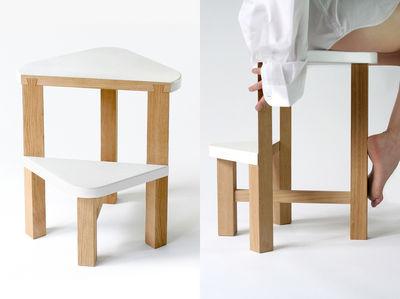 Scopri scala smarty sgabello comodino a 50 cm bianco legno
