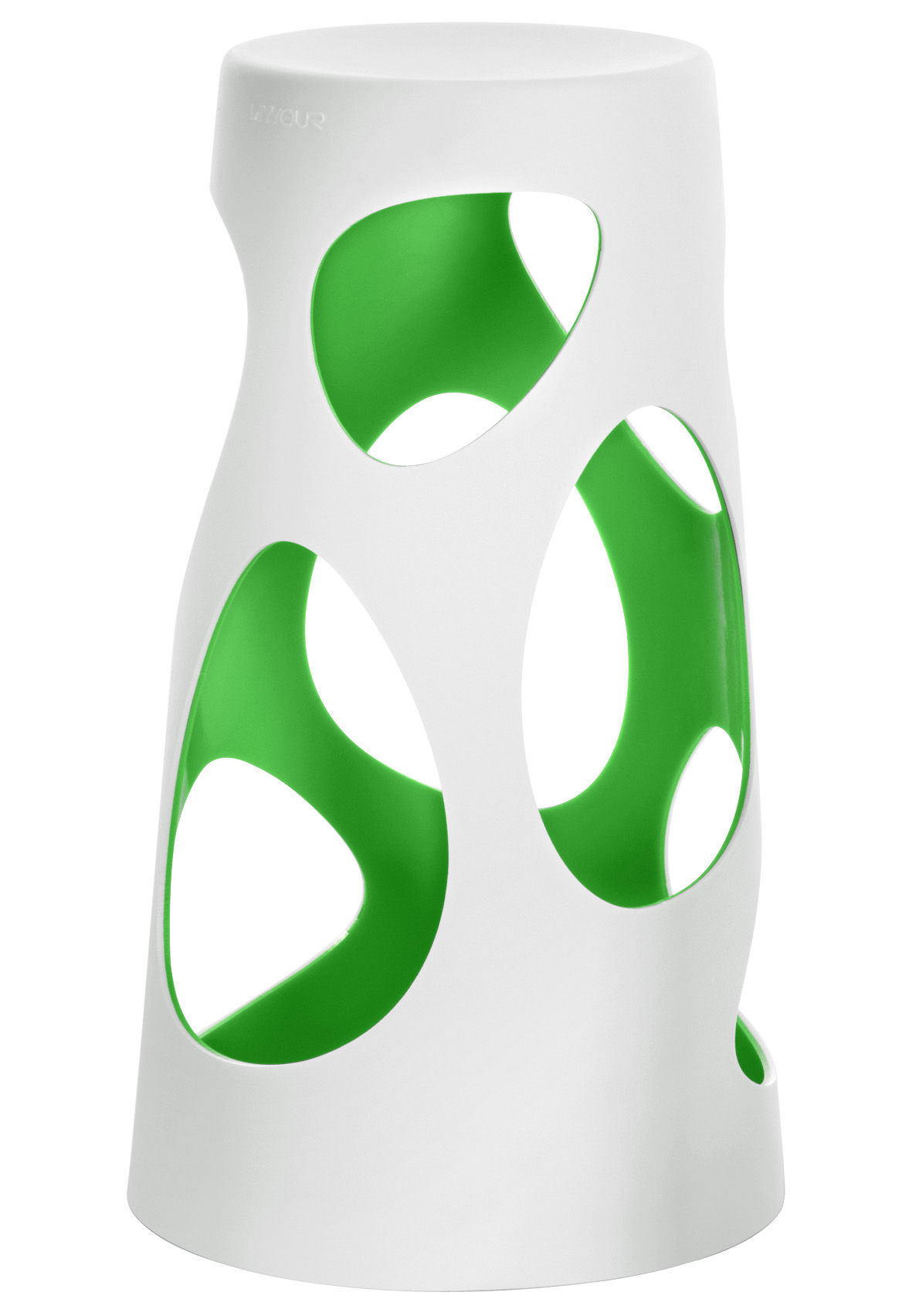 Arredamento - Sgabelli da bar  - Sgabello bar Liberty - H 74 cm di MyYour - Esterno bianco / Interno verde - Poleasy