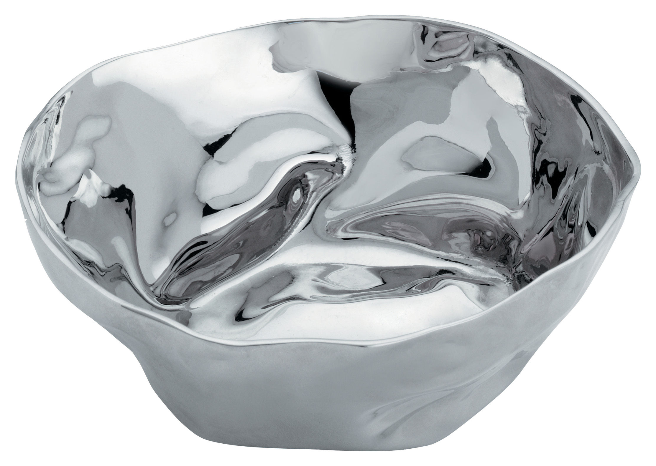 Tableware - Bowls - Francesca Small dish - Set of 2 by Alessi - Polished stainless steel - Polished stainless steel