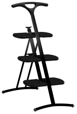 Furniture - Miscellaneous furniture - Tiramisù Stepladder by Kartell - Black - Fibreglass, Polypropylene, Varnished steel