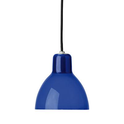 Suspension Luxy H5 /Cordon noir - Rotaliana noir,bleu brillant en matière plastique