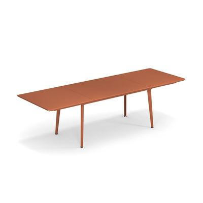 Table à rallonge Plus4 / Acier - 160 à 270 cm - Emu rouge en métal