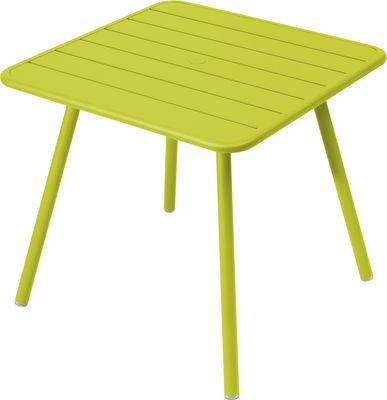 Table Luxembourg / 80 x 80 cm - 4 pieds - Fermob verveine en métal