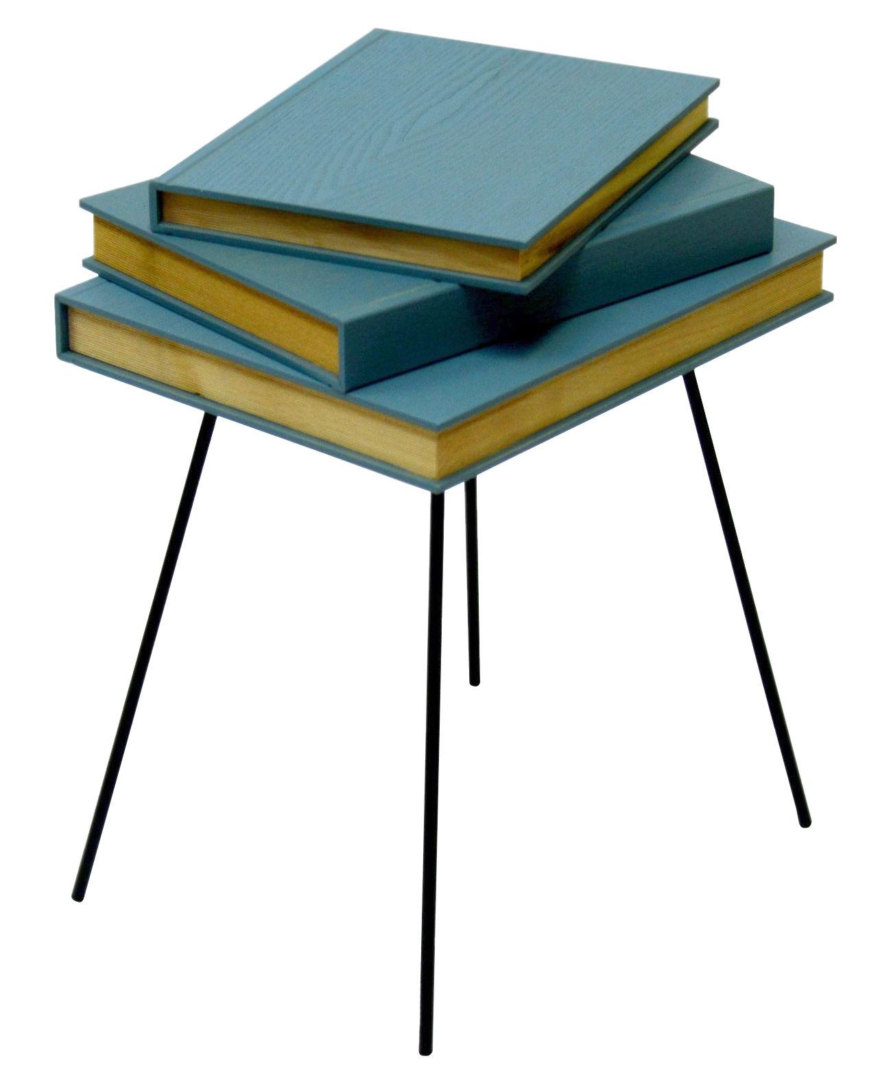 Mobilier - Tables basses - Table d'appoint Fairy tales / 36 x 31 x H 46 cm - Valsecchi 1918 - Bleu ciel - Contreplaqué de bouleau, Métal laqué