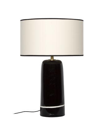 Lighting - Table Lamps - Sicilia Large Table lamp - / H 57 cm - Ceramic by Maison Sarah Lavoine - Black - Ceramic, Cotton