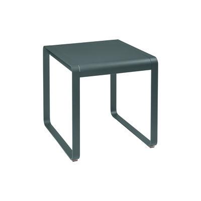 Table rectangulaire Bellevie / 74 x 80 cm - métal - Fermob gris orage en métal