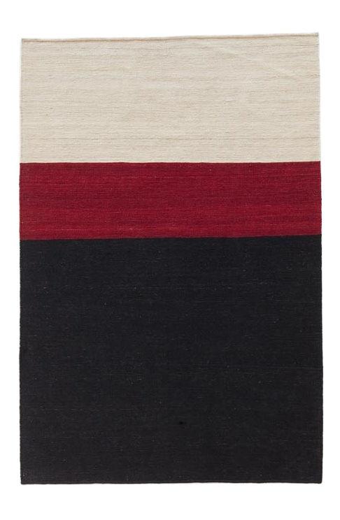 Dekoration - Teppiche - Mélange Colour 2 Teppich / 140 x 200 cm - Nanimarquina - 140 x 200 cm / weiß, rot, schwarz - Wolle, afghanisch