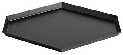 Tableware - Trays - Kaleido Large Tray - 39 x 34 cm by Hay - Black - Painted steel