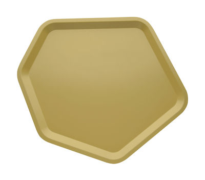 Tableware - Trays - Territoire Tray by Alessi - Snad yellow - Stainless steel epoxy coloration resin