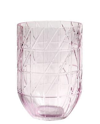 Vase Colour Large / Ø 13.5 x H 19 cm - Hay rose en verre