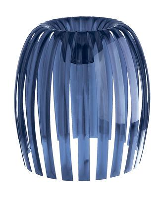 Abat-jour Josephine XL / Ø 50 x H 47,5 cm - Koziol bleu marine transparent en matière plastique