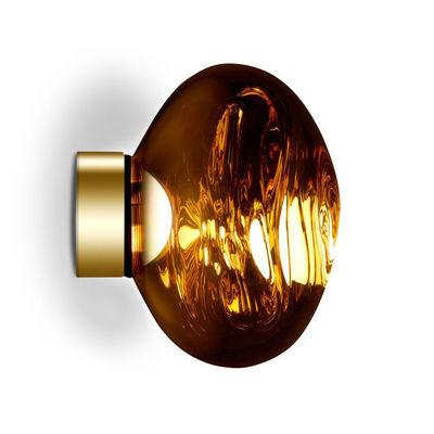 Illuminazione - Lampade da parete - Applique Melt Mini LED - / Plafoniera- Ø 30 cm di Tom Dixon - Oro - policarbonato