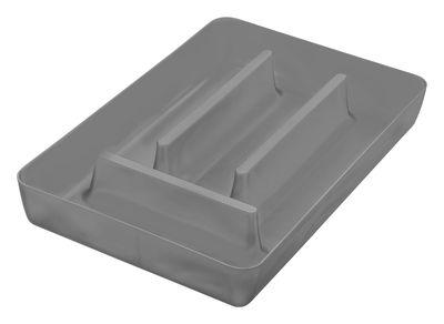 Küche - Einfach praktisch - Rio Besteck-Fach - Koziol - Anthrazit transparent - Plastik
