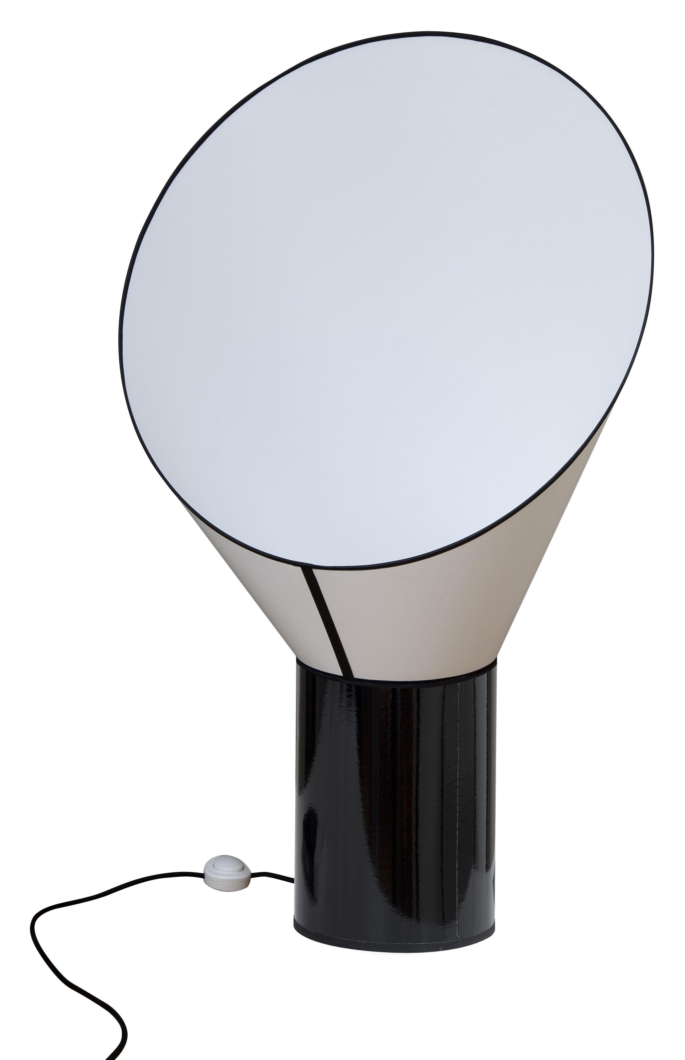 Leuchten - Bodenleuchten - Grand Cargo Bodenleuchte H 117 cm - Designheure - Zylinder-Element schwarz / Schornstein-Element weiß - Percaline de coton, Stahl