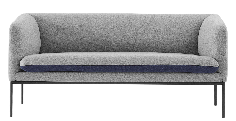 canap droit turn l 160 cm 2 places gris clair bleu nuit ferm living. Black Bedroom Furniture Sets. Home Design Ideas