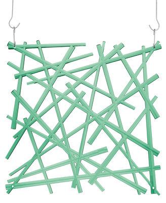 Mobilier - Paravents, séparations - Décoration Stixx / Set de 4 - Crochets inclus - Koziol - Vert menthe transparent - Polycarbonate