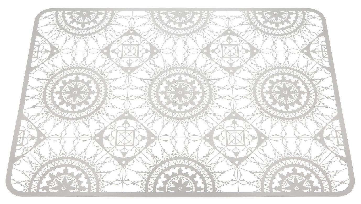 Arts de la table - Dessous de plat - Dessous de plat Italic Lace / 45 x 32 cm - Dessous de plat - Driade Kosmo - Blanc - Laiton