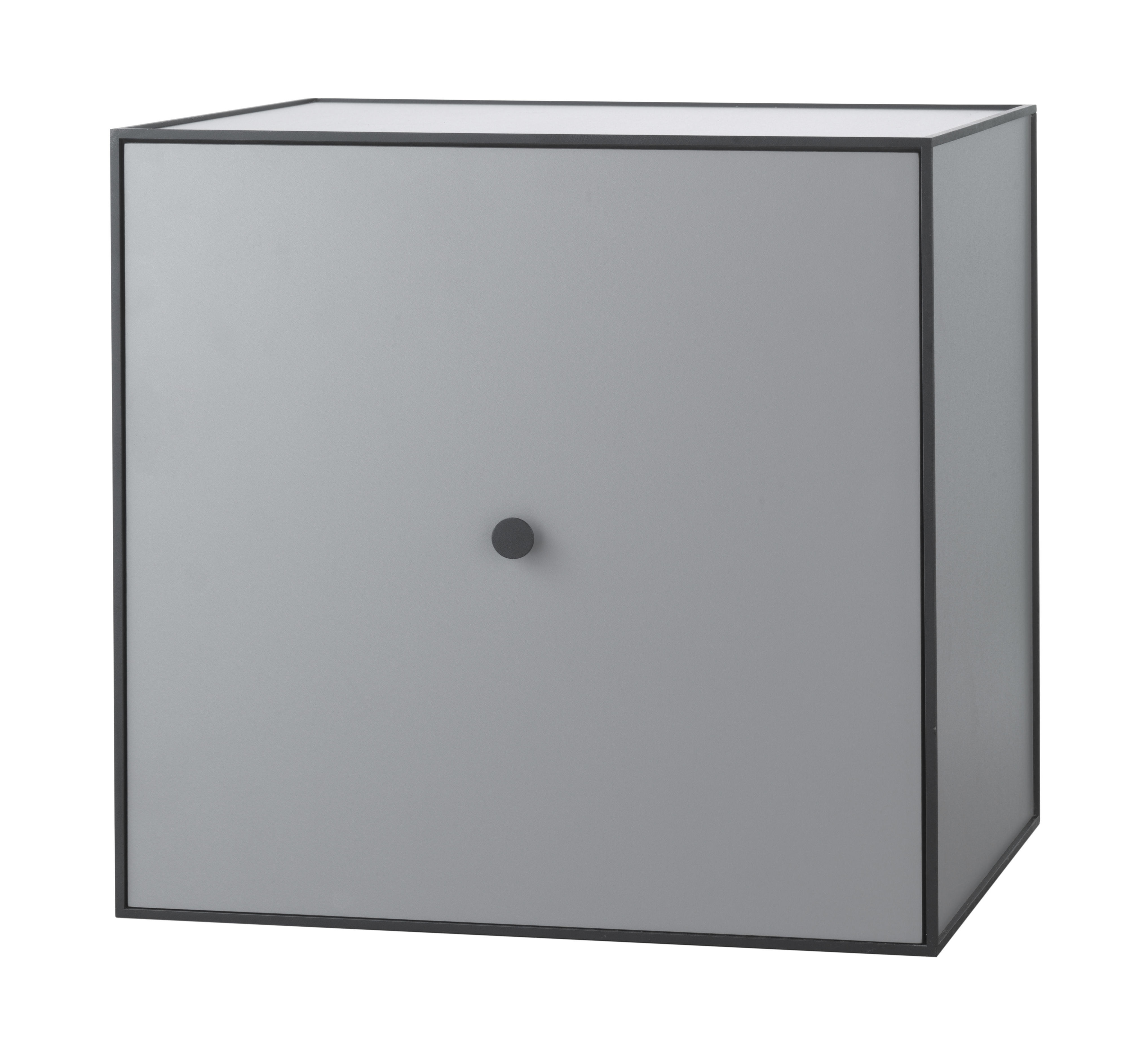 Mobilier - Etagères & bibliothèques - Etagère Frame / Boîte - 49x49 cm - by Lassen - Gris foncé - Mélamine, Métal laqué époxy