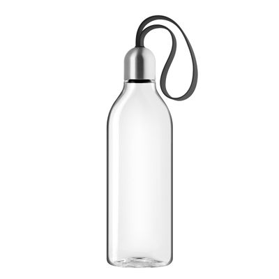 Tableware - Water Carafes & Wine Decanters - Backpack Flask - / 0.5 L - Ecological plastic travel bottle by Eva Solo - Black - Ecological plastic, Steel, Textile