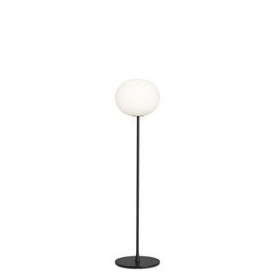 Lampadaire Glo-Ball F1 / H 135 cm - Verre soufflé bouche - Flos blanc,noir en verre