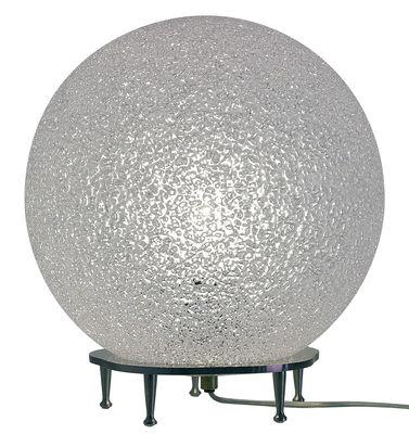 Lampe de table IceGlobe / Ø 30 cm - Lumen Center Italia blanc en métal