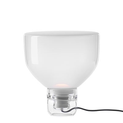 Lampe de table Lightline Small / Ø 32 x H 34 cm - Verre - Brokis transparent,blanc opalin en verre