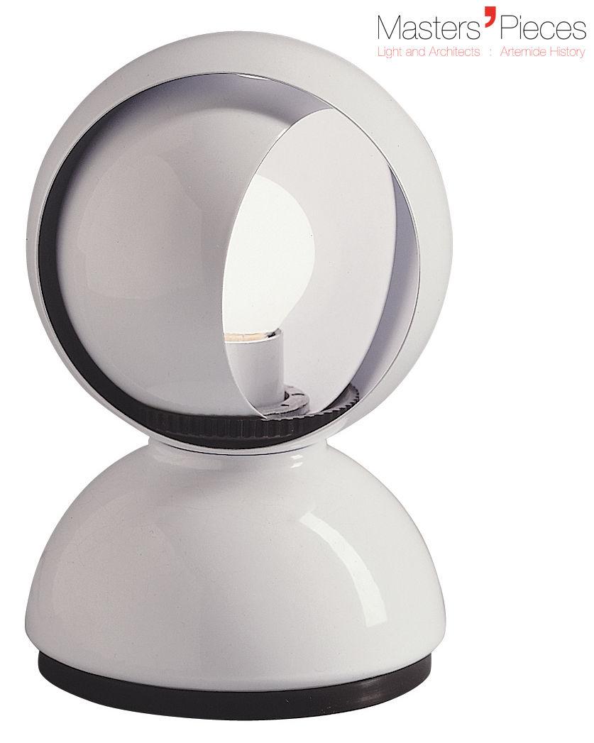 Luminaire - Lampes de table - Lampe de table Masters' Pieces - Eclisse / 1967 - Artemide - Blanc - Métal verni