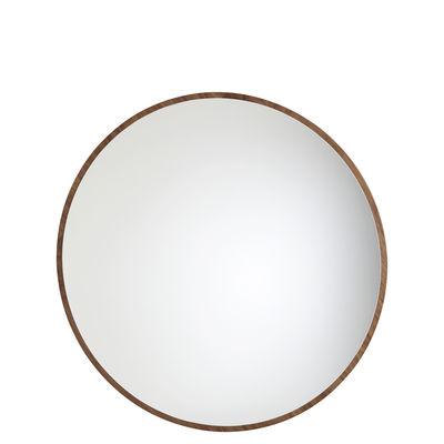 Miroir mural Bulle petit modèle / Ø 55 cm - Maison Sarah Lavoine noyer huilé en bois
