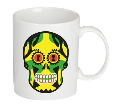 Tableware - Coffee Mugs & Tea Cups - Tetmex Mug - Ceramic by Gangzaï design - Yellow - Ceramic