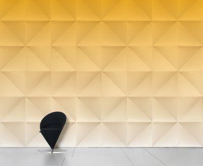 Papier peint panoramique Floating / 8 lés - L 372 cm x H 300 cm - Domestic doré en papier