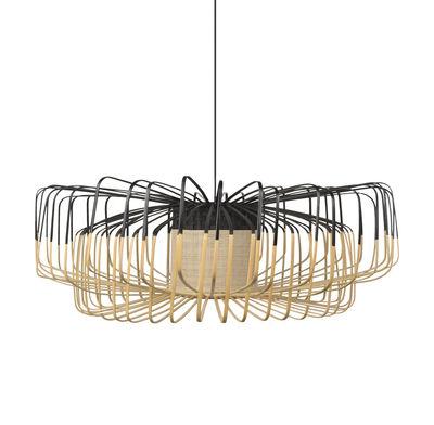 Lighting - Pendant Lighting - Bamboo Up-Down XXL Pendant - / Ø 80 cm by Forestier - Black - Bamboo