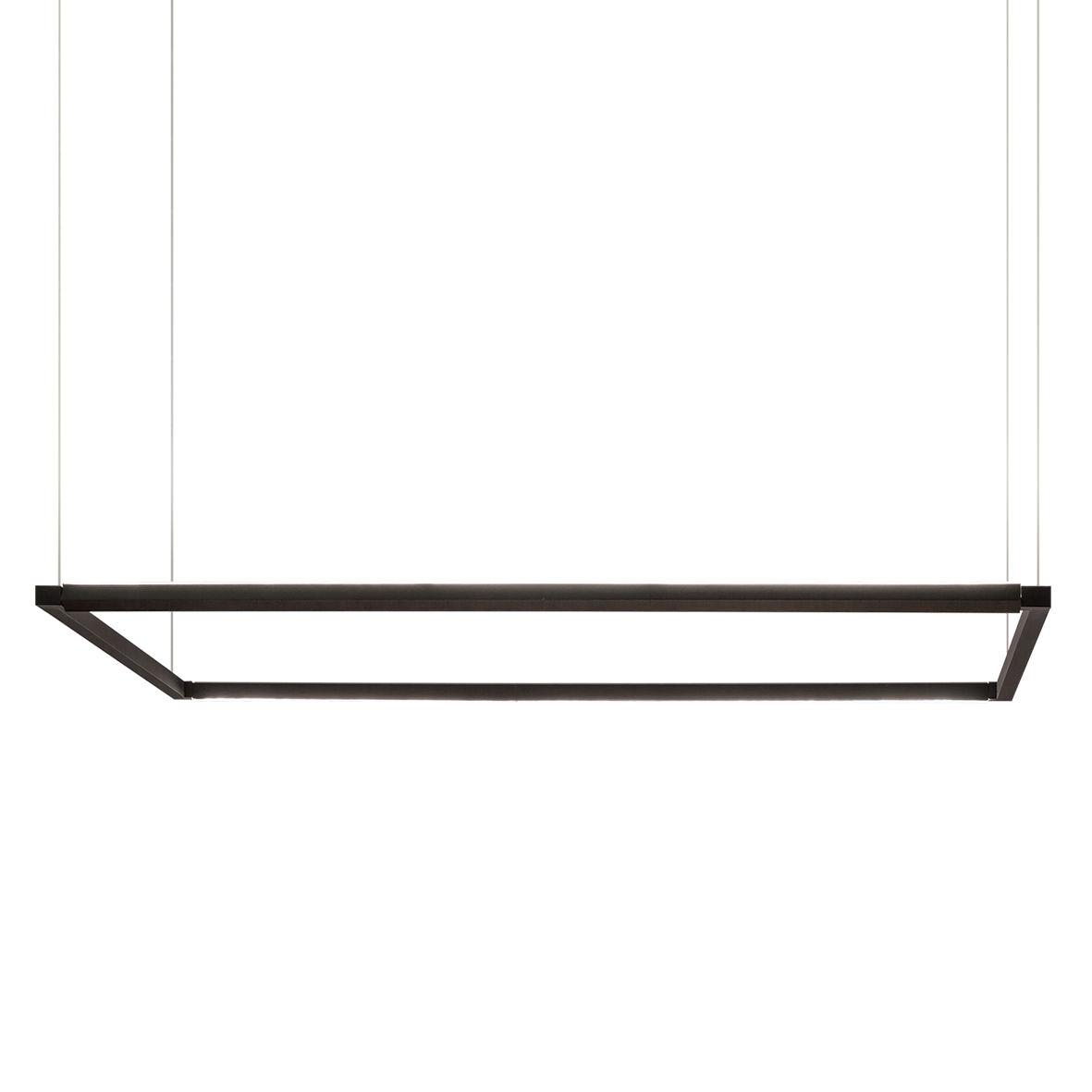 Lighting - Pendant Lighting - Spigolo Horizontal LED Pendant - / 114 x 58 cm - Adjustable light by Nemo - Black - Extruded aluminium