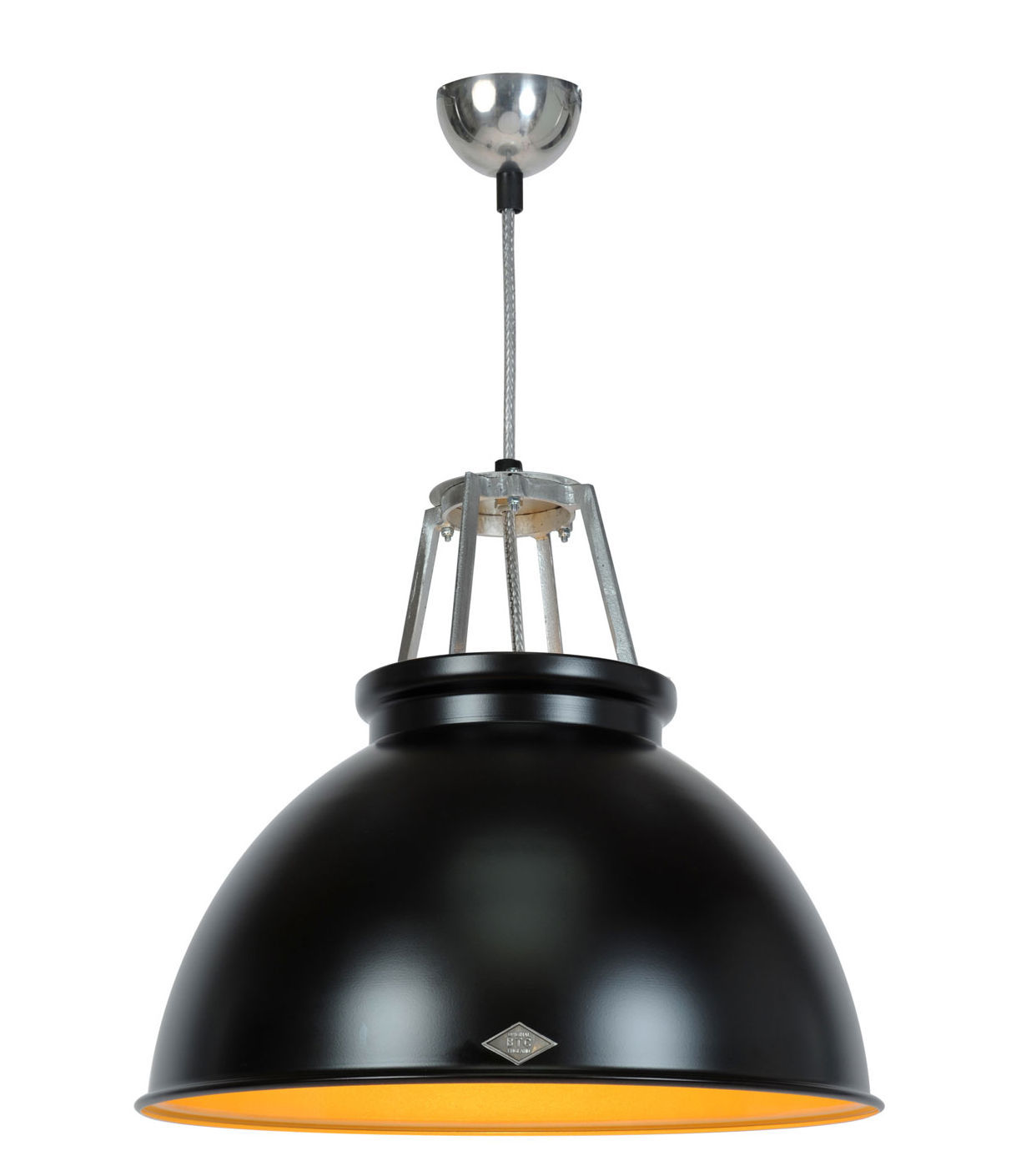 Lighting - Pendant Lighting - Titan 3 Pendant - H 42,5 cm x Ø 45,5 cm by Original BTC - Black / Bronze interior - Aluminium