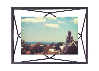 Decoration - Home Accessories - Prisma Photo frame - / Photo 10 x 15 cm - to stand up or hang by Umbra - 10 x 15 cm / Black - Glass, Metal