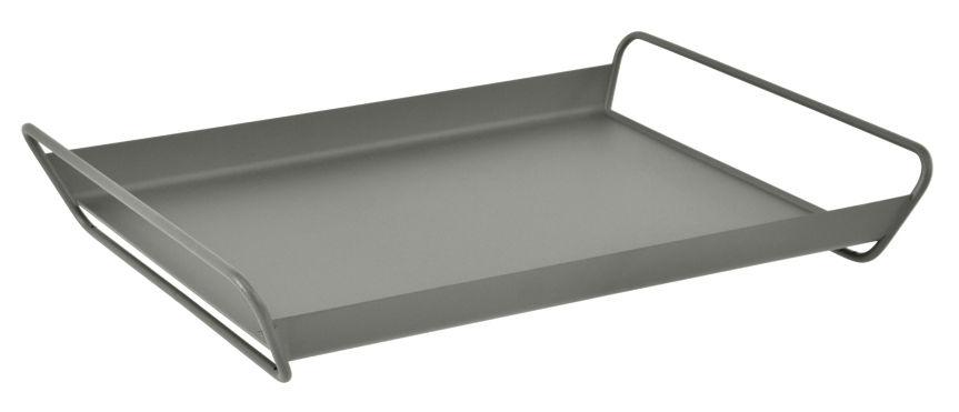 Tavola - Vassoi  - Vassoio Alto / Acciaio - 53 x 38,5 cm - Fermob - Rosmarino - Acciaio elettrozincato