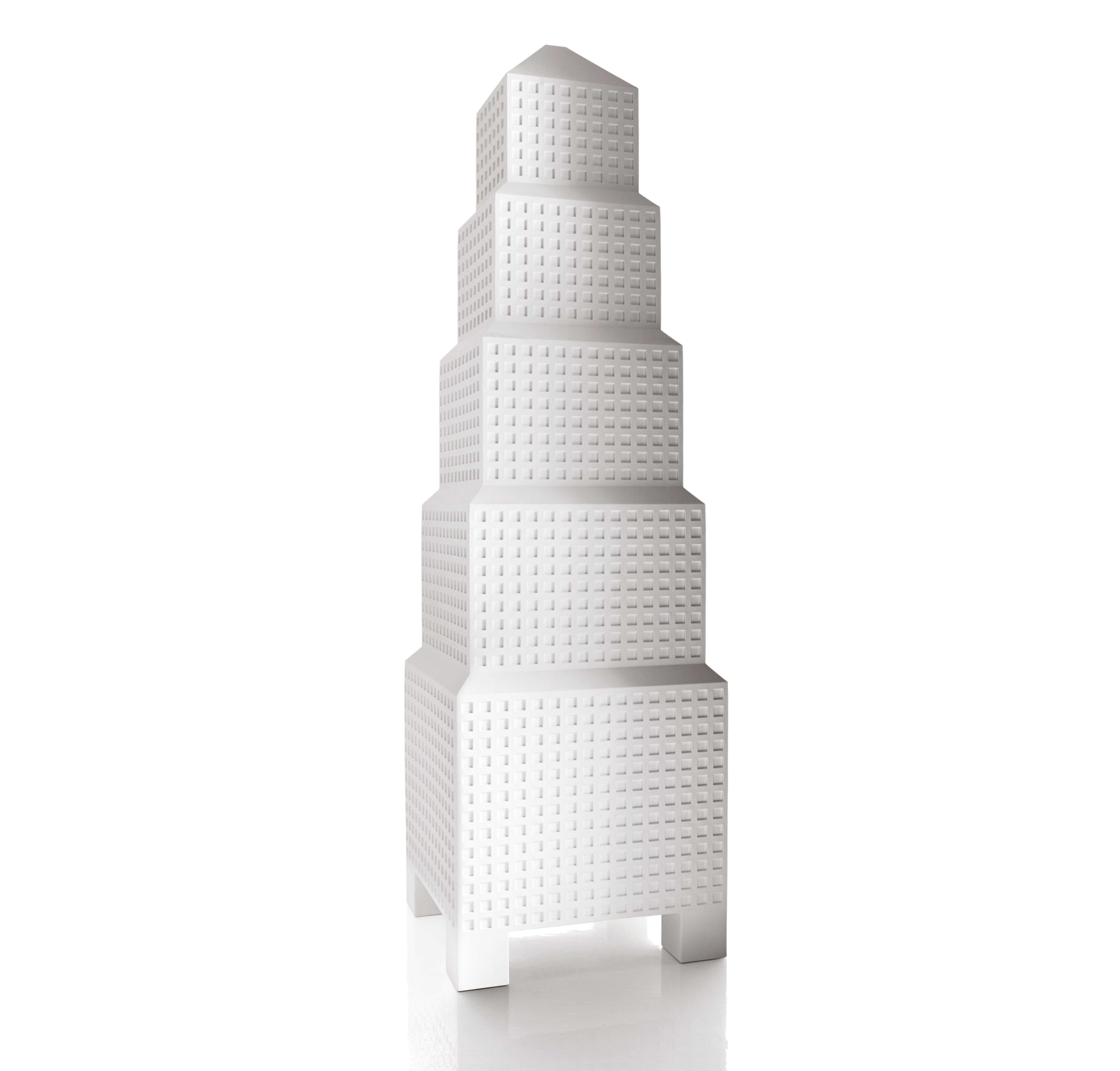 Möbel - Regale und Bücherregale - Downtown Regal H 183 cm - Magis Collection Me Too - Weiß - Polyäthylen