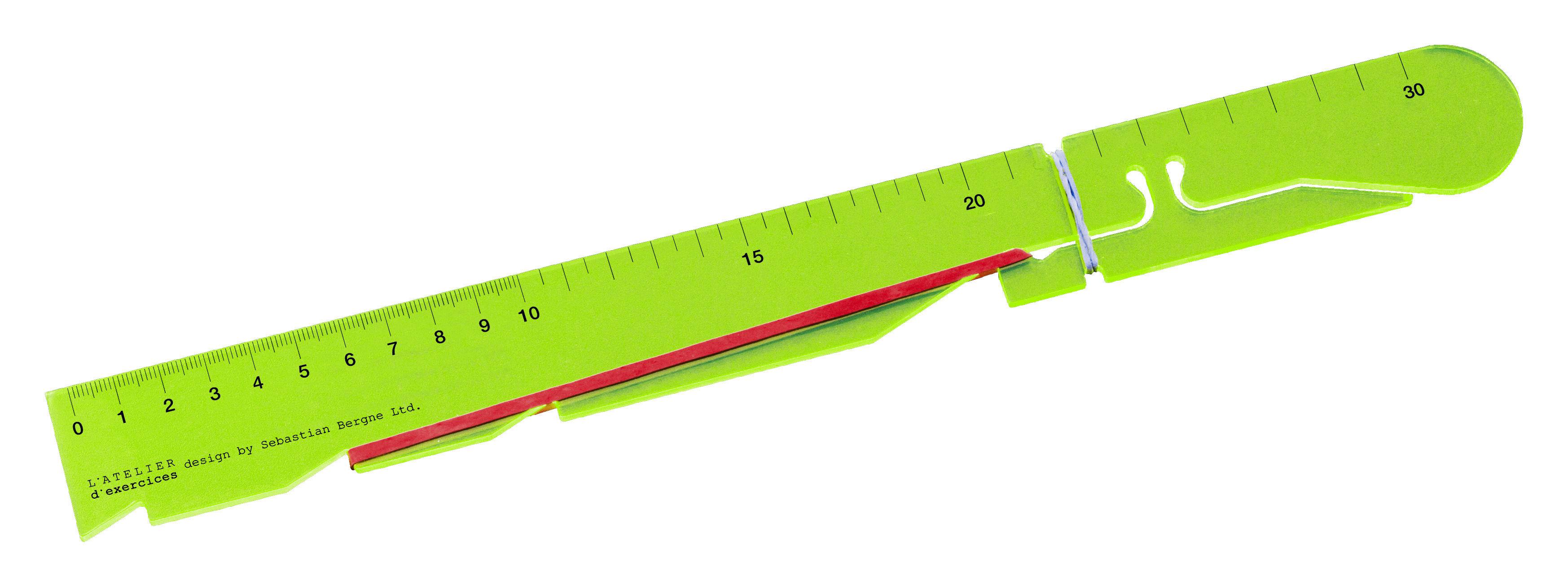 Interni - Per bambini - Righello Bandit - / lancia elastici di L'atelier d'exercices - Giallo trasparente - PMMA