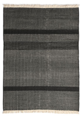 Decoration - Rugs - Tres Texture Rug - 170 x 240 cm by Nanimarquina - Black - Felt, New-zealand wool
