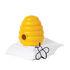 Scatola magnetica Busy Bees - / + 20 clips a forma di ape di Pa Design
