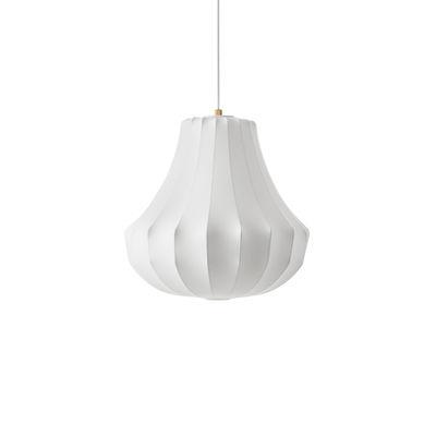 Illuminazione - Lampadari - Sospensione Phantom Small - / Ø 45 x H 47 cm - Resina cocon di Normann Copenhagen - Bianco - Acciaio, Résine cocon