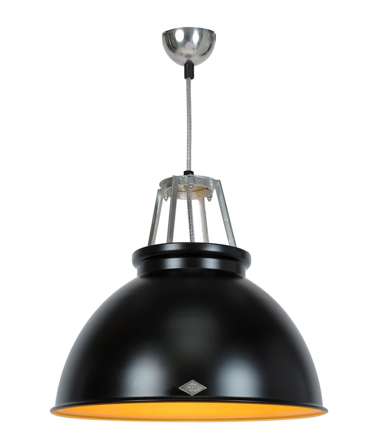Illuminazione - Lampadari - Sospensione Titan 3 - / Metallo - Ø 45,5 x H 42 cm di Original BTC - nero / interno bronzo - Alluminio